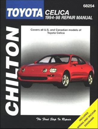 free car repair manuals 1982 toyota celica spare parts catalogs toyota celica repair workshop manual 1994 1998 chilton 68254