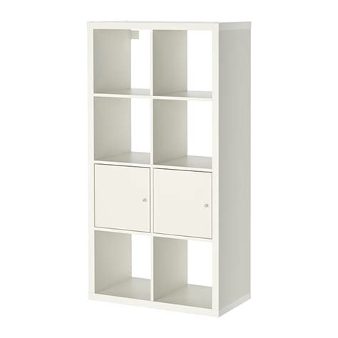 kallax shelving unit with doors white 30 3 8x57 7 8