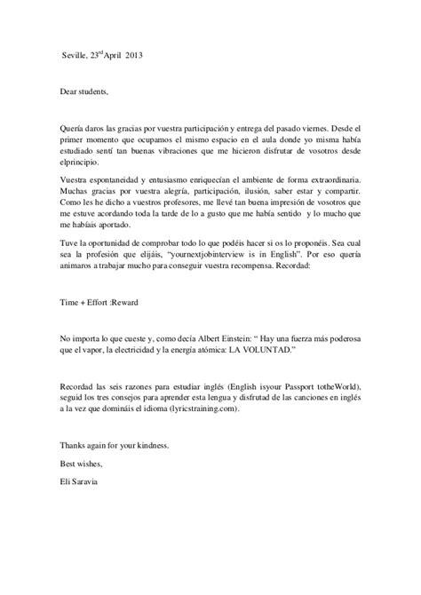 carta de agradecimiento a una maestra carta agradecimiento alumnos