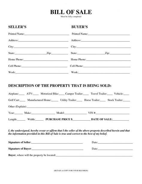 sle vehicle bill of sale pdf and car bill of sale va