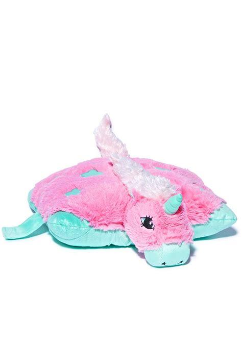 Unicorn Pillow by Pillow Pets Mystical Unicorn Pillow Dolls Kill