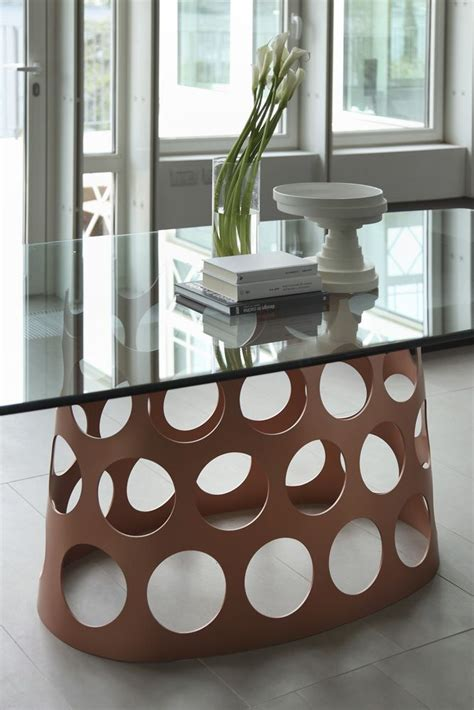 porada arredi srl porada arredi srl glass top table brown base with holes