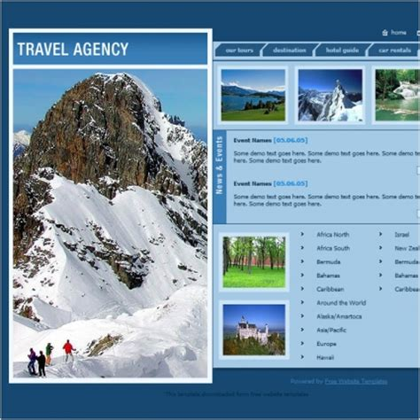free travel agency website templates travel agency template free