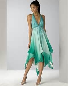 Bcbgmaxazria women s silk ombr chiffon halter dress with handkerchief