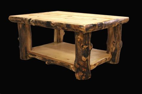 Log Coffee Table Country Western Rustic Cabin Wood Table Wood Log Coffee Table