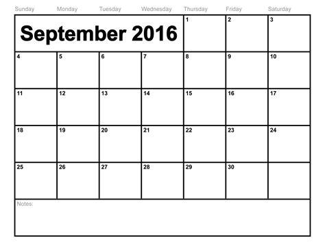 September Kalender 2016 September 2016 Calendar Printable Template 8 Templates