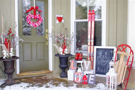 love decorations for the home excellent outdoor home porch valentine ideas display