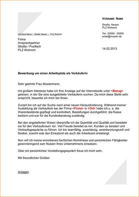 Anschreiben Muster Fur Verkauferin 4 Anschreiben Verk 228 Uferin Questionnaire Templated