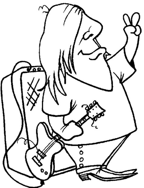 guitar player coloring page guitar player coloring pages rocker guitar player