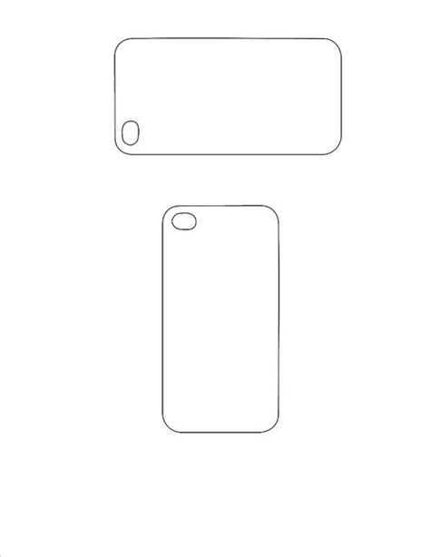 Iphone Design Vorlage Iphone 5 Back Template Iphone Printables