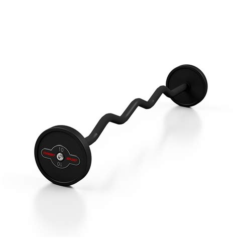 Barbell 10 Kg steel rubber curl barbell 10 kg marbo sport b2b
