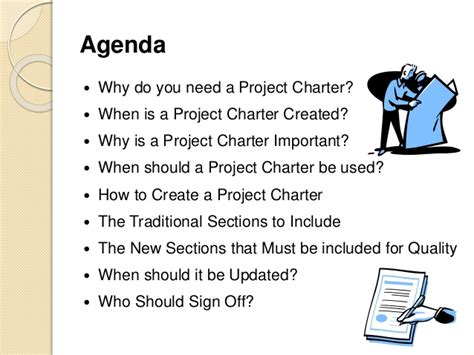 Project Charter Sections by The Project Charter Ensuring Quality