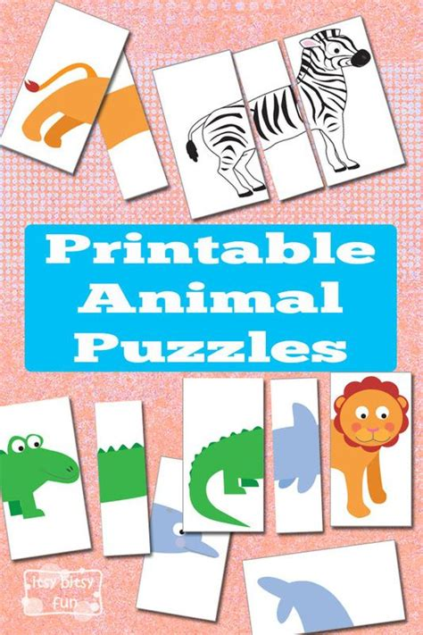 printable animal puzzles printable animal puzzles busy bag lab puppies bags and