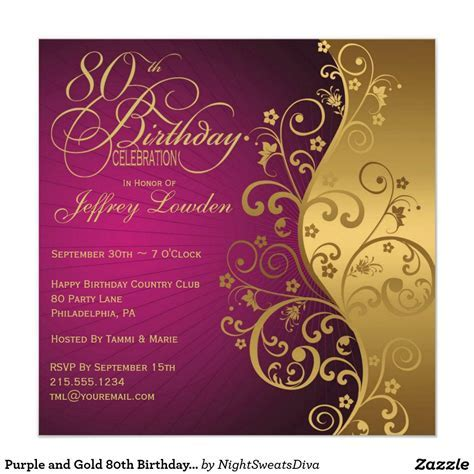 15  Sample 80th birthday invitations Templates Ideas
