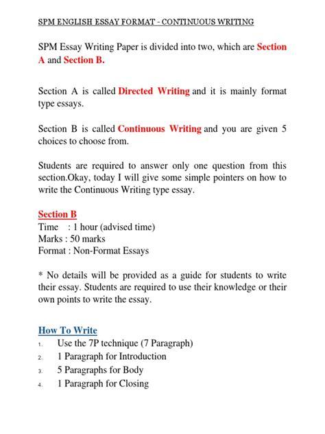 Spm Essay by Spm Essay Resume Template Easy Http Www