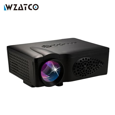 Lu Led Projector Mobil wzatco ct37 1600lumen led hd hdmi usb 1080p home theater led lcd portable mini projector