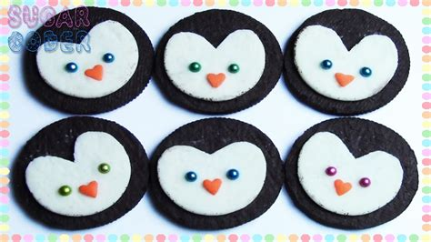 How To Decorate Sugar Cookies With Royal Icing Penguin Cookies Penguin Oreos Sugarcoder Youtube