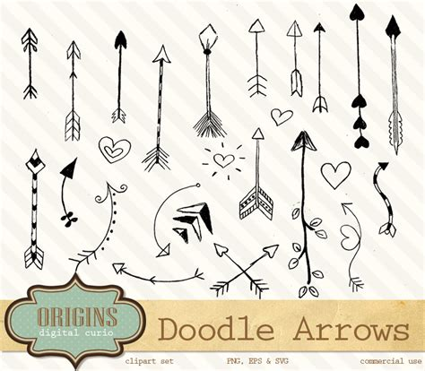 free doodle arrow vector doodle arrows clip vectors illustrations on creative