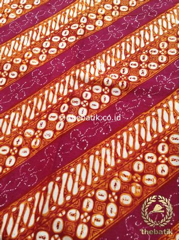 Kain Batik Kawung Merah jual kain batik jogja klasik kemerahan motif parang seling