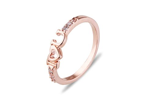 the new i u gold ring ring color letter