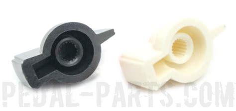 White Chicken Knobs by Chicken 32 White Knob Push On Pedal Parts