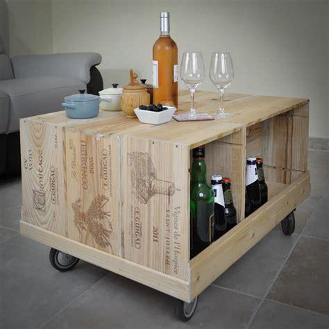 Table Avec Caisse De Vin by D 233 Corer Votre Salon Avec Des Caisses 224 Vins Woodcase Mais