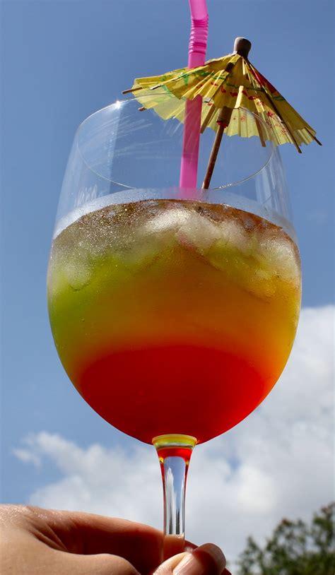 rainbow cocktail drink hoegarden weekends inside nanabread s head