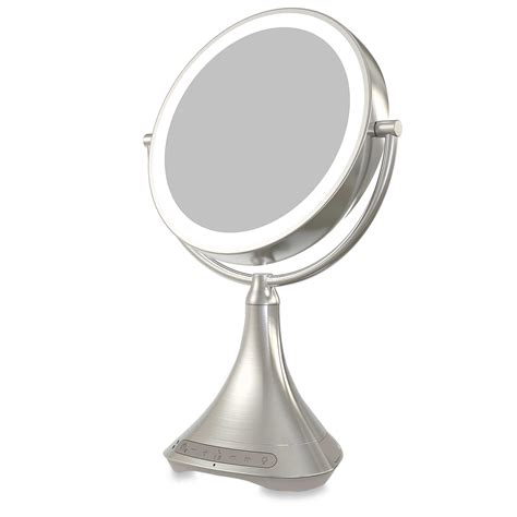 makeup mirror with lights and bluetooth ihome icvbt7sn bluetooth vanity mirror speaker outlet