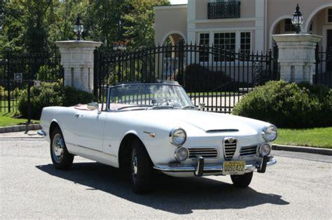 Alfa Romeo 2600 Spider For Sale by 1966 Alfa Romeo 2600 Spider Classic Italian Cars For Sale