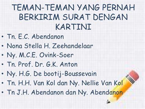 Kartini Surat Surat Kepada Ny R M Abendanon Mandri Dan Suaminya biografi r a kartini