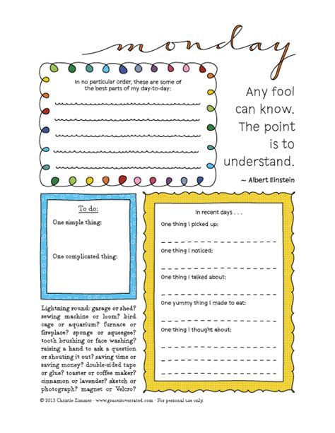 adventures in guided journaling 7 day printable guided