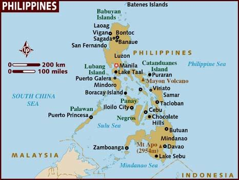 map of phillipines map of philippines