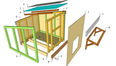 free slant roof dog house plans dog house plans exploded view outdoors pinterest dog