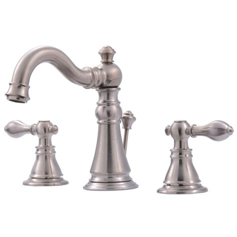 Home Depot Bathroom Vanity Faucets Ultra Faucets Signature Collection 8 In Widespread 2 Handle Bathroom Faucet With Pop Up Drain