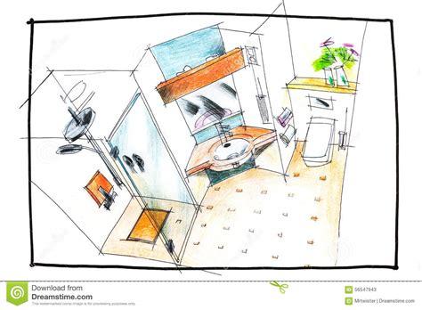 Master Bath Plans dessin de vue sup 233 rieure de salle de bains photo stock