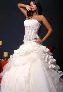 strapless corset wedding dress sang maestro