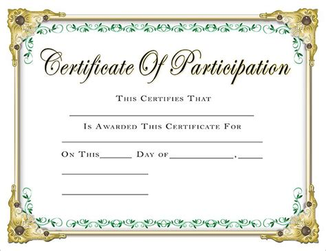 pageant certificate template certificate template for pageant gallery
