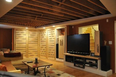 felice basement ideas exposed joist ceiling jpg