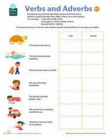 all about adverbs verbs and adverbs 1 worksheet