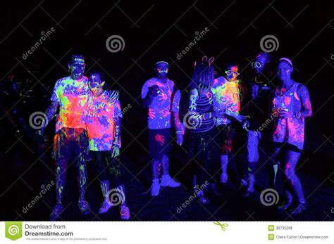glow in the paint run glow run port elizabeth 2014 south africa editorial photo