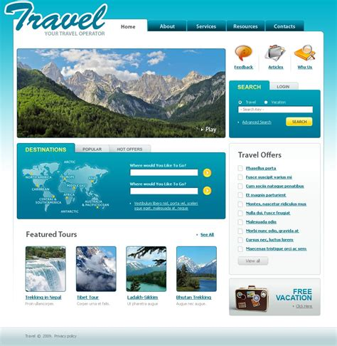 Travel Agency Website Template 22548 Travel Website Template