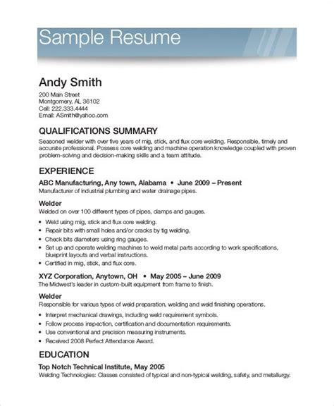 Printable Sle Resume Templates Free Printable Resume Mybissim