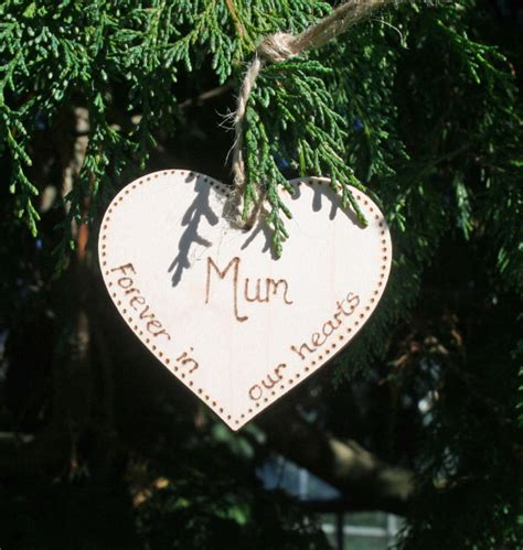 in memory memorial tree decoration a christmas heart