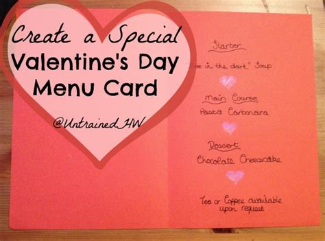 s day card create create your own special valentine s day menu card