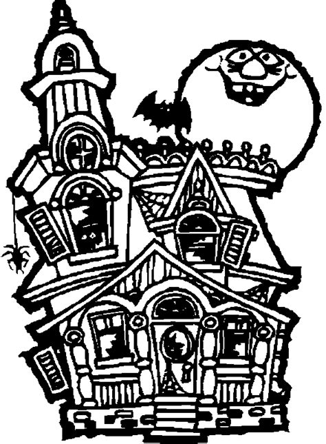 scary haunted house coloring pages printable halloween coloring pages