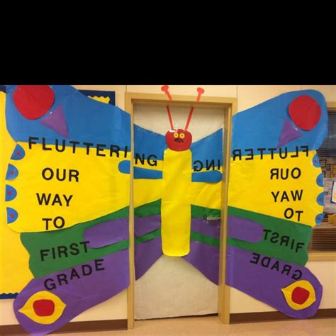 hungry caterpillar butterfly door decorations