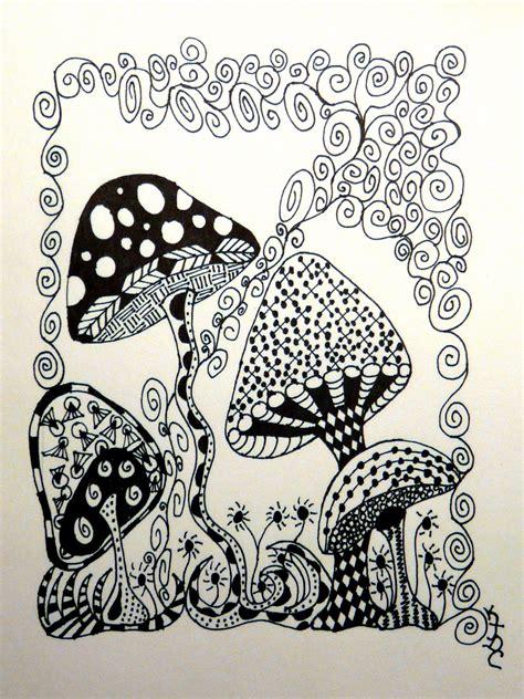 printable zentangle flowers october cat studios no eraser in zentangles