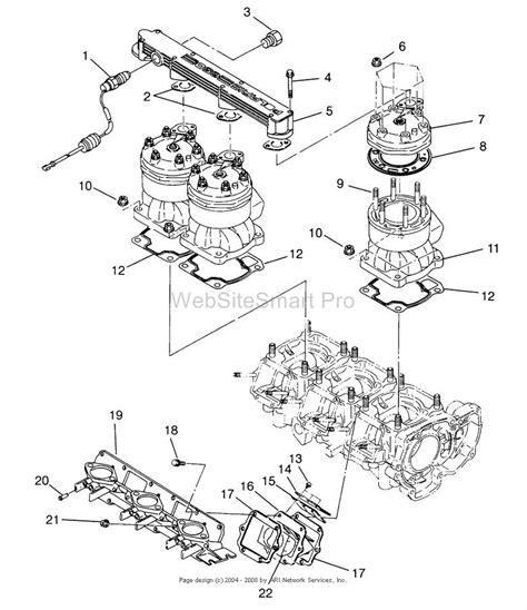 polaris jet ski parts diagram i a polaris slt 750 jet ski the foward cylinder gets