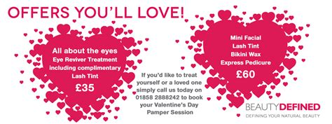 offers valentines treat yourself or per a