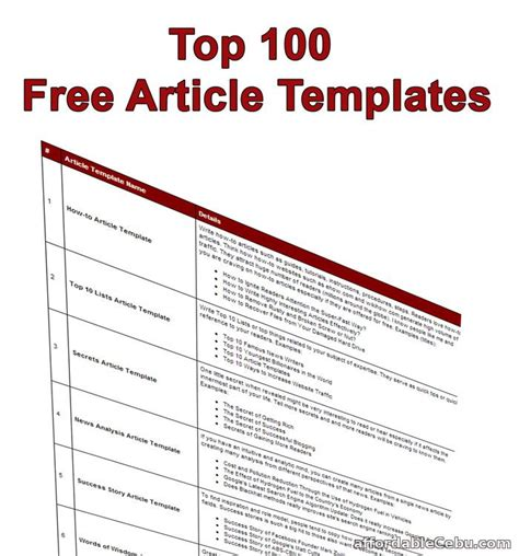article writing templates free images